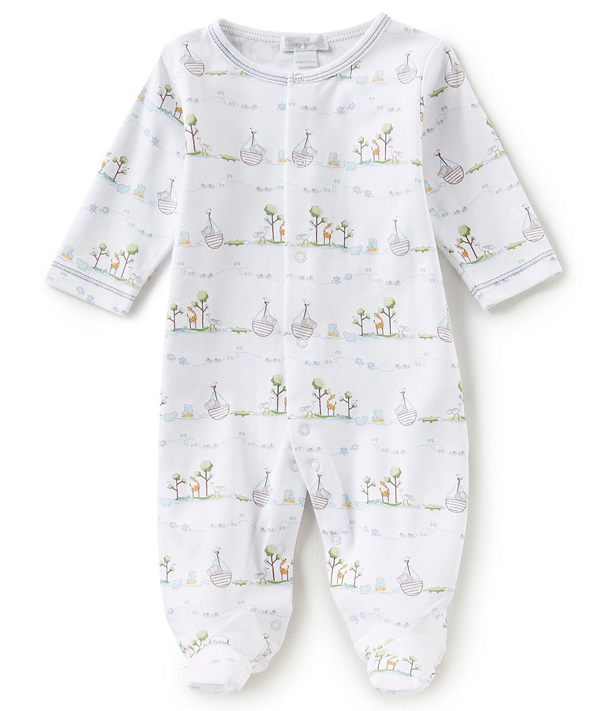 Kissy Kissy Baby Boys Preemie-9 Months Noahs Printed Footed Coverall