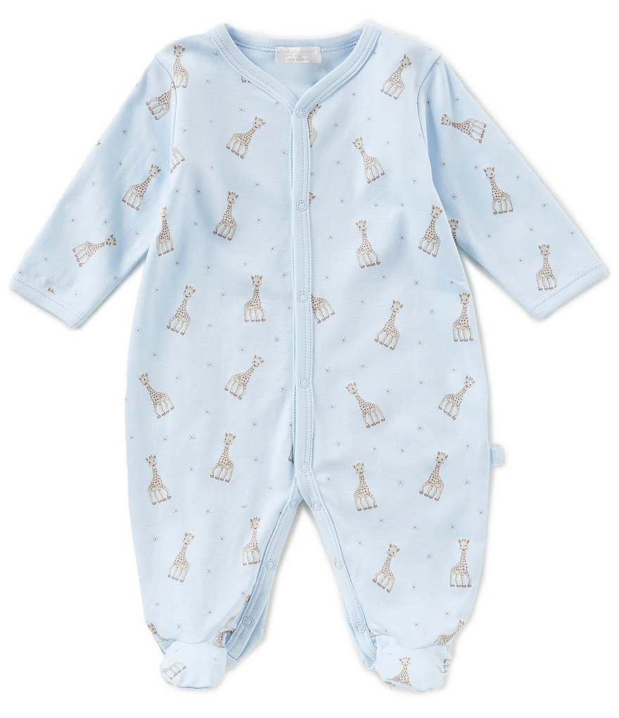 Kissy Kissy Baby Boys Preemie-9 Months Sophie La Girafe Printed Footed Coverall