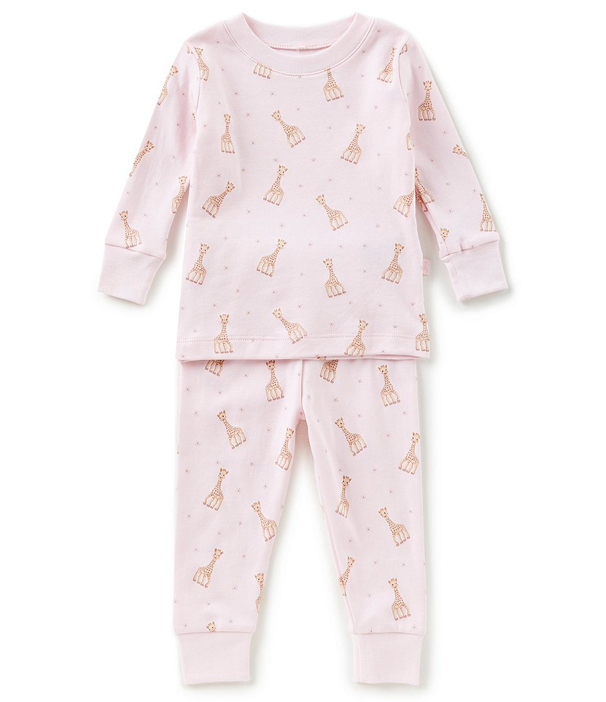 Kissy Kissy Baby Girls 12-24 Months Sophie La Girafe Printed Top & Bottom Pajama Set