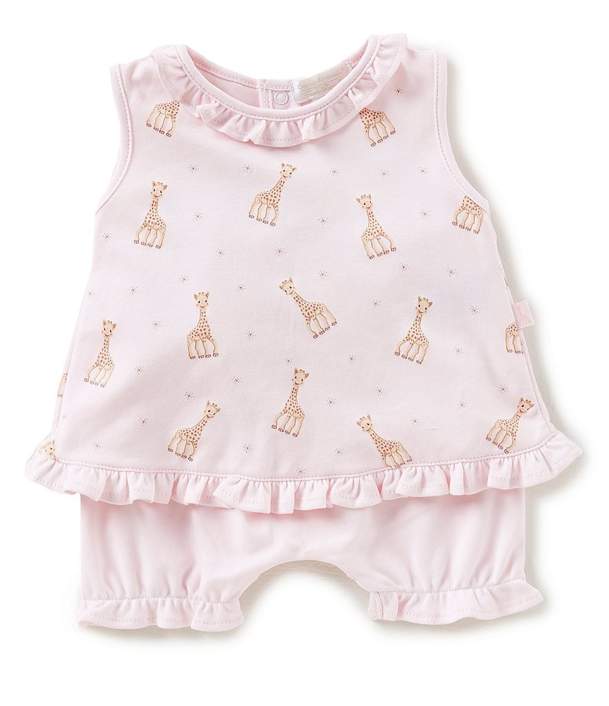 Kissy Kissy Baby Girls Newborn-18 Months Sophie La Girafe Printed Dress & Shorts Set