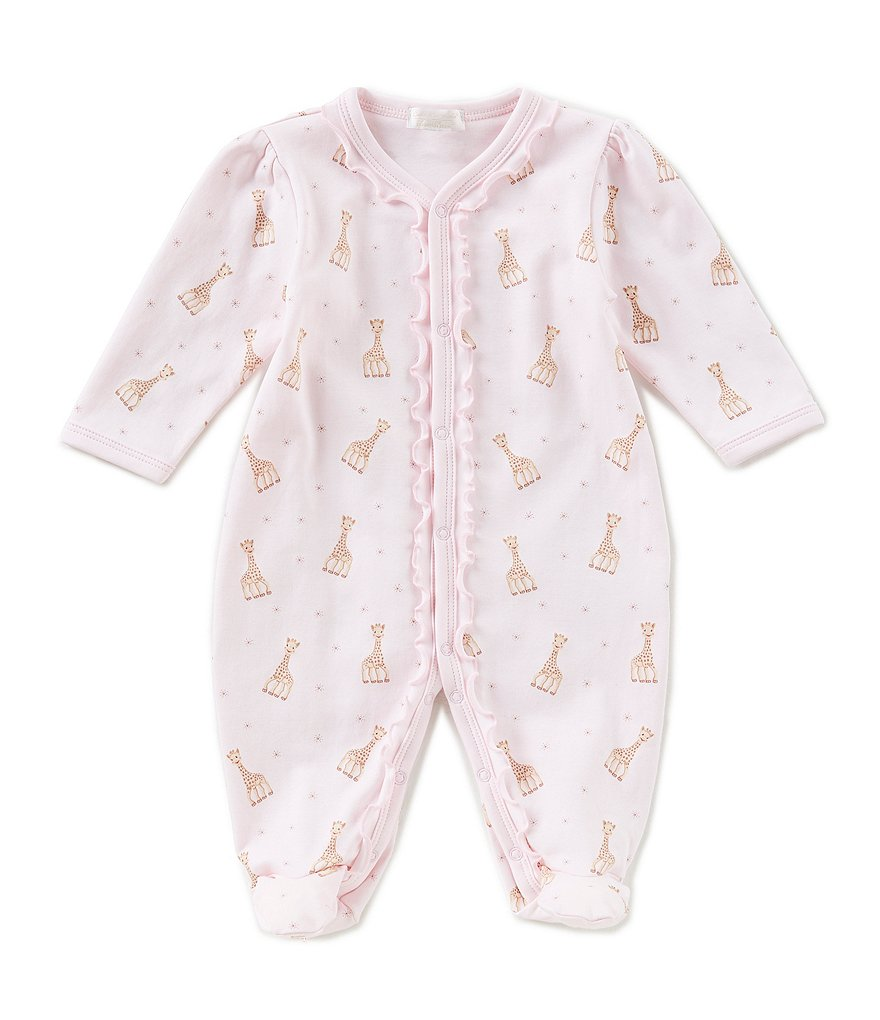 Kissy Kissy Baby Girls Preemie-9 Months Sophie La Girafe-Printed Footed Coverall