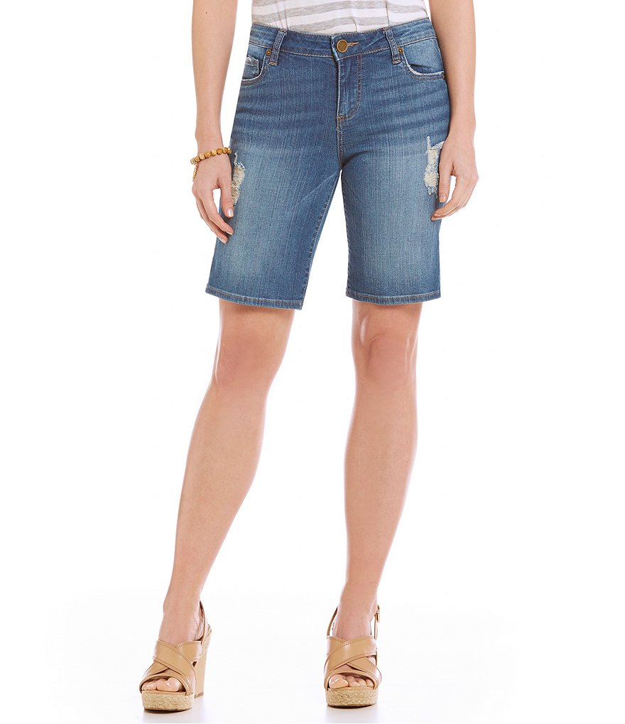 KUT from the Kloth Catherine Boyfriend Destructed Jean Shorts