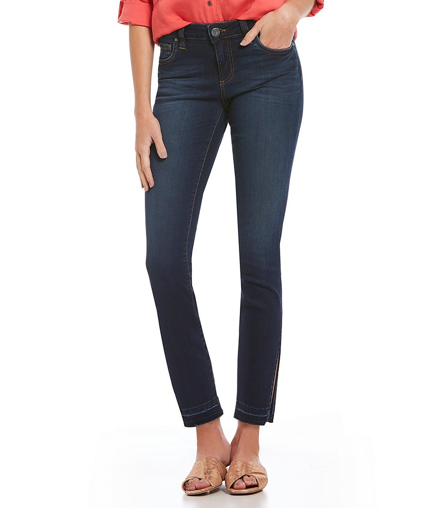 KUT from the Kloth Connie Ankle Skinny Side Slit Jeans
