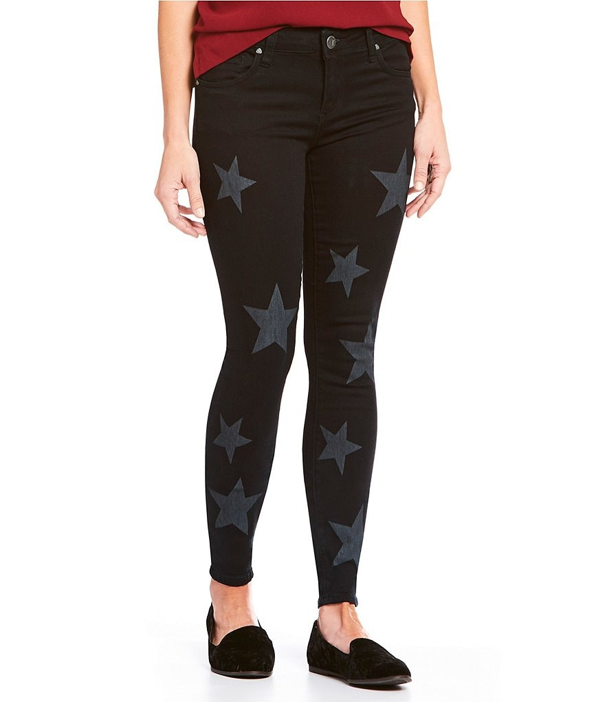 KUT from the Kloth Mia Toothpick All-Over Star Print Jeans