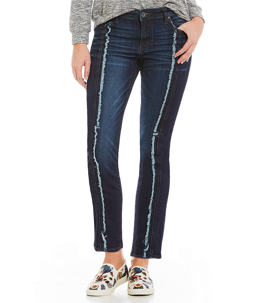 KUT from the Kloth Reese Frayed Center Seam Ankle Jeans