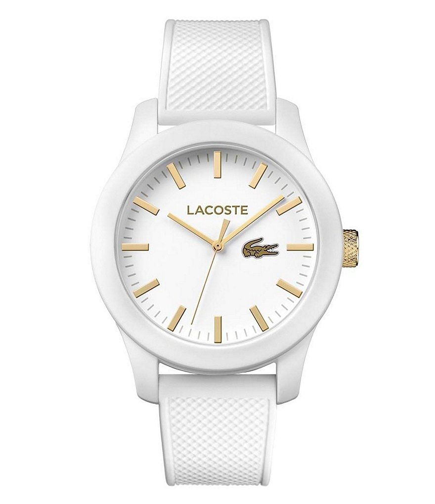 Lacoste 12.12 Analog Petit Pique Silicone-Strap Watch