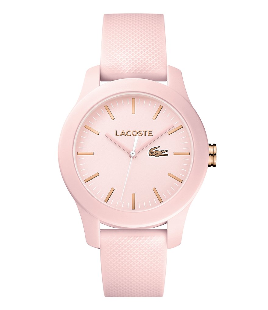 Lacoste 12.12 Light Pink Analog Silicone-Strap Watch