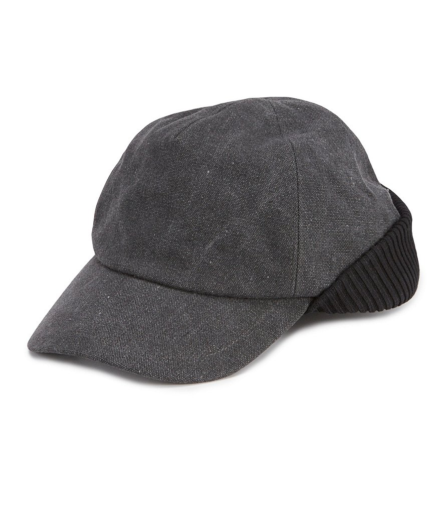 Lake of the Isles Canvas Baseball Cap with Knit Earband