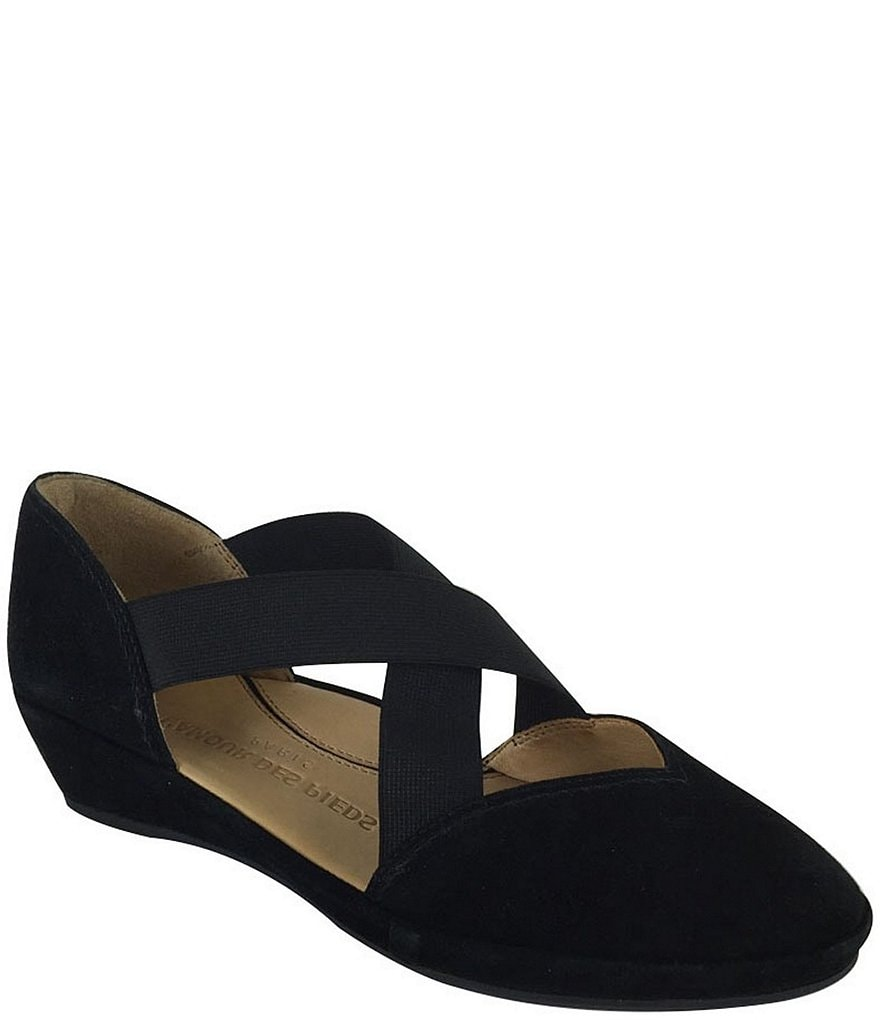 L'Amour Des Pieds Bane Suede Demi Wedge Slip-Ons