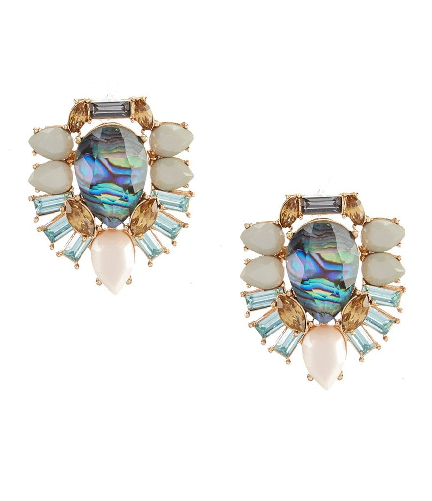 Landry Abalone Button Earrings