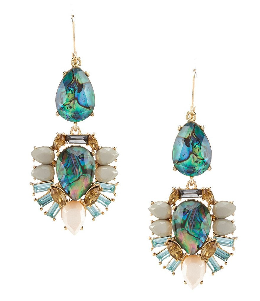 Landry Abalone Chandelier Earrings