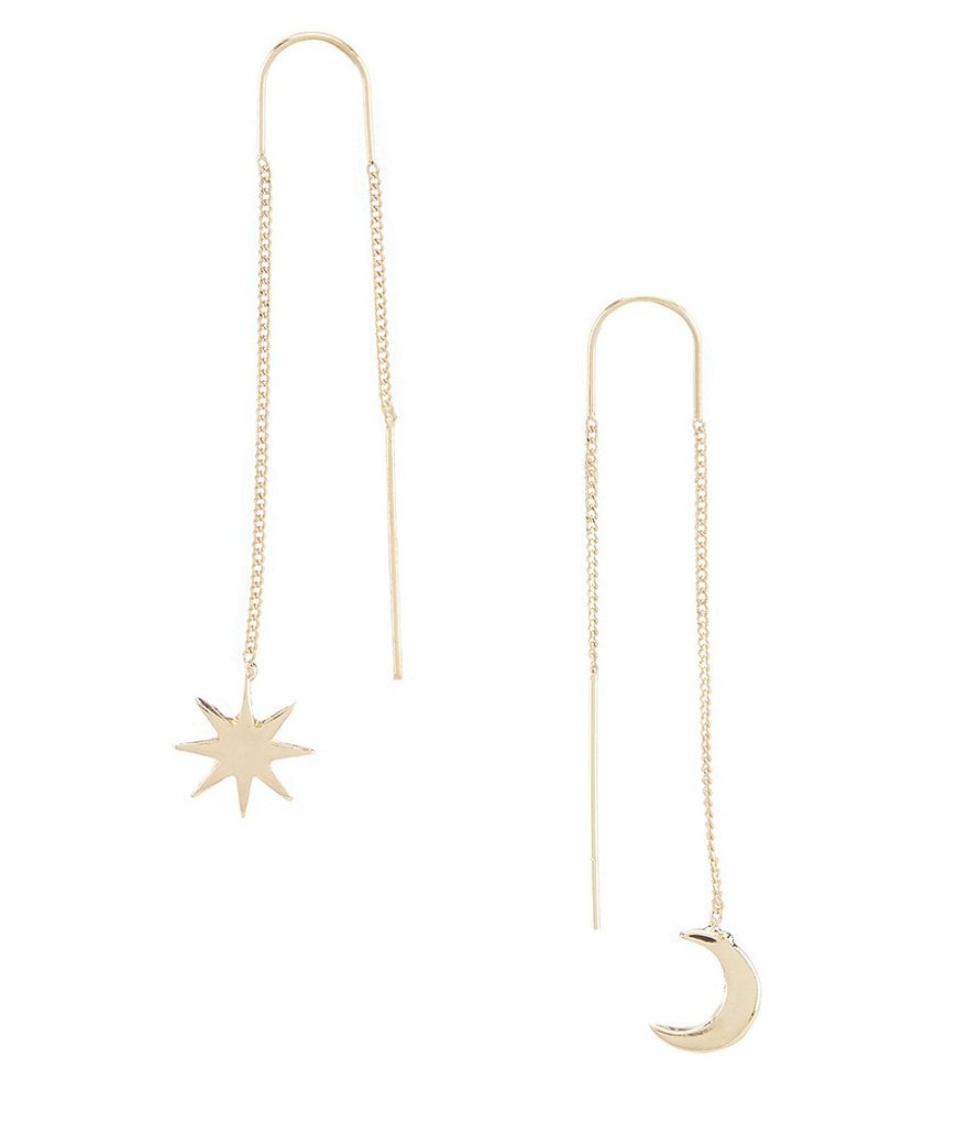 Landry Celestial Mismatched Threader Earrings