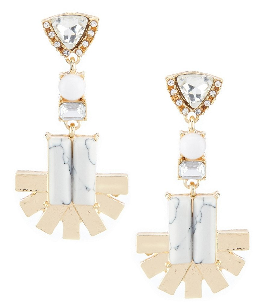 Landry Fan Chandelier Statement Earrings