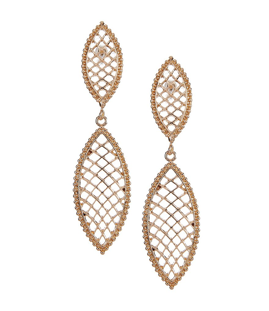 Landry Open Oval Mesh Earrings