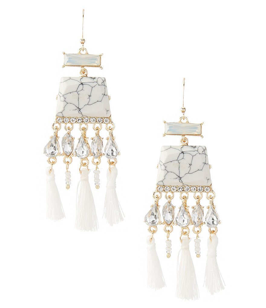 Landry Statement Tassel Earrings