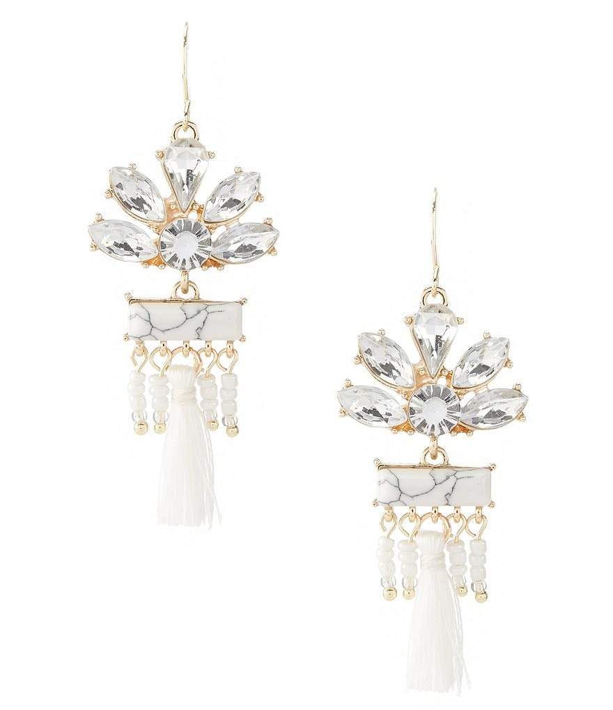 Landry Stones And Tassels Earrings