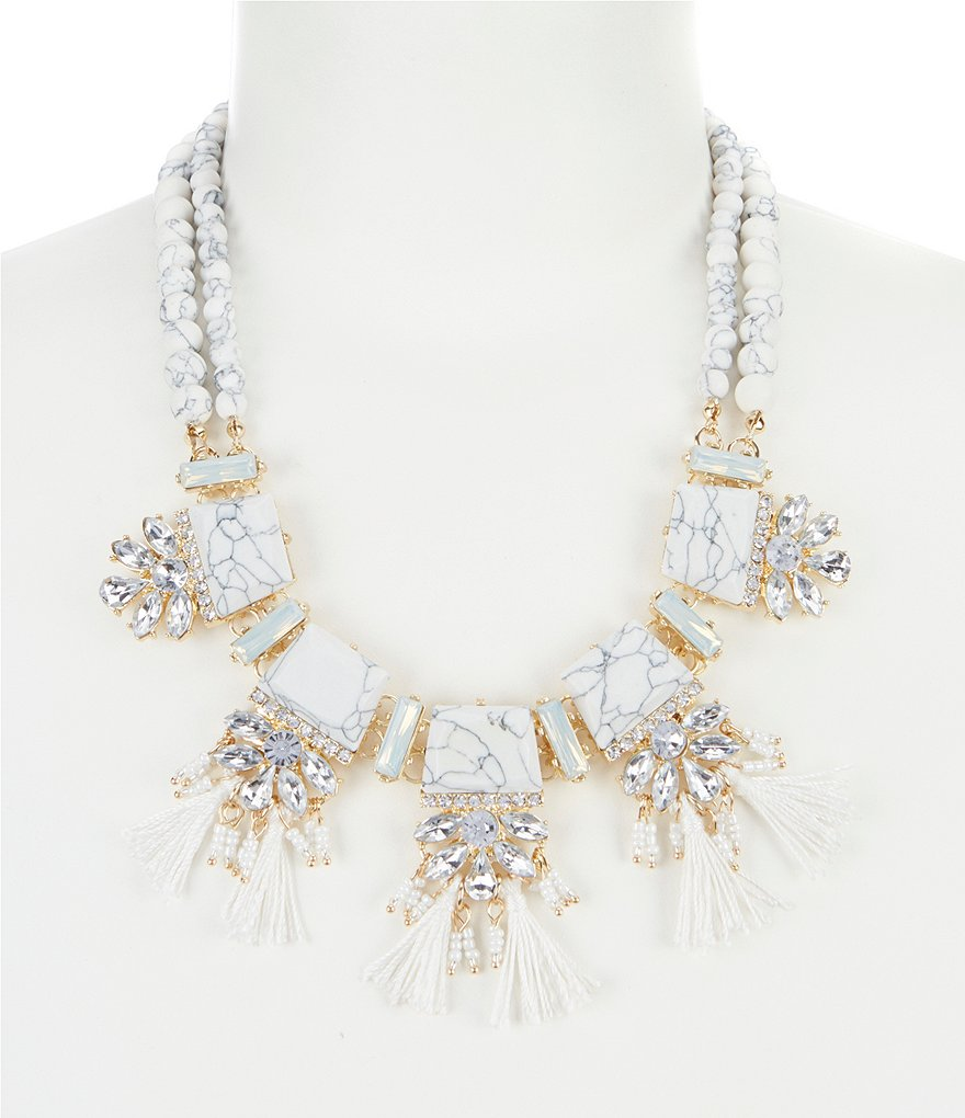 Landry Tassels Accent Statement Necklace