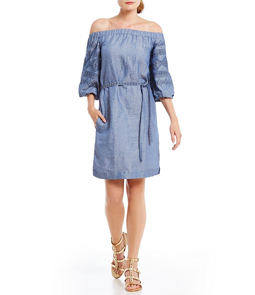 Laundry by Shelli Segal Chambray Shift Dress