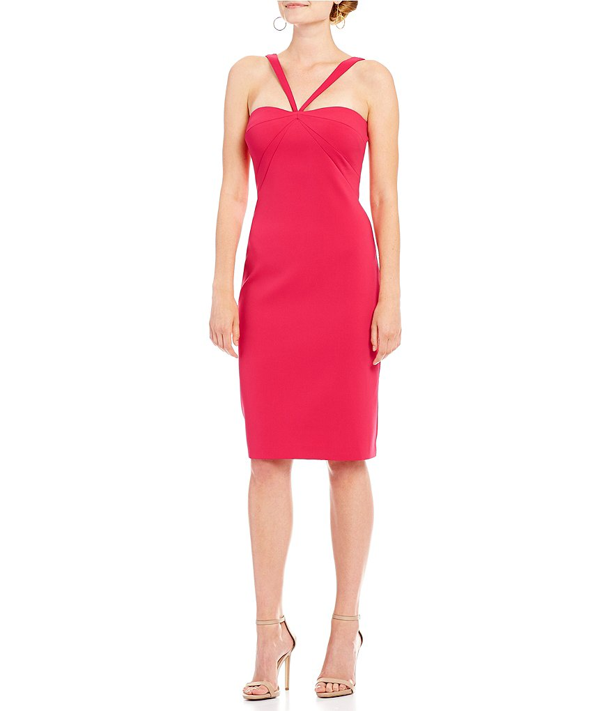 Laundry by Shelli Segal Halter Neck Sheath Dress