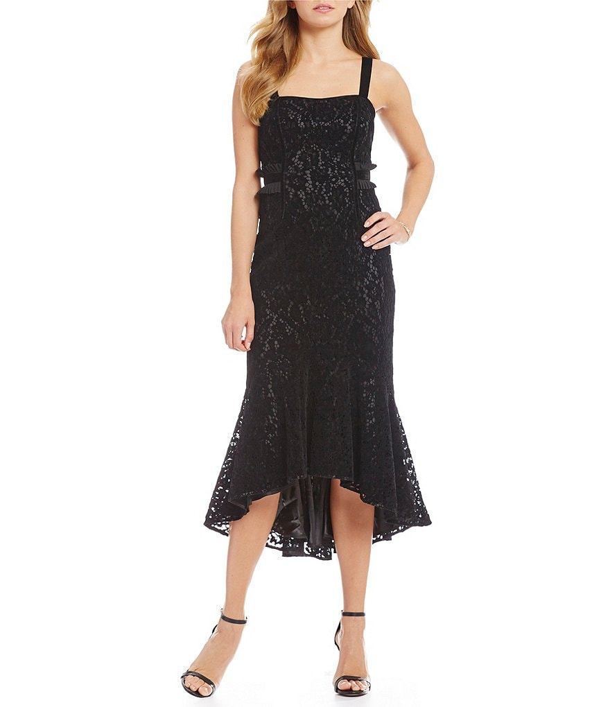 Laundry by Shelli Segal Lace Hi Lo Dress