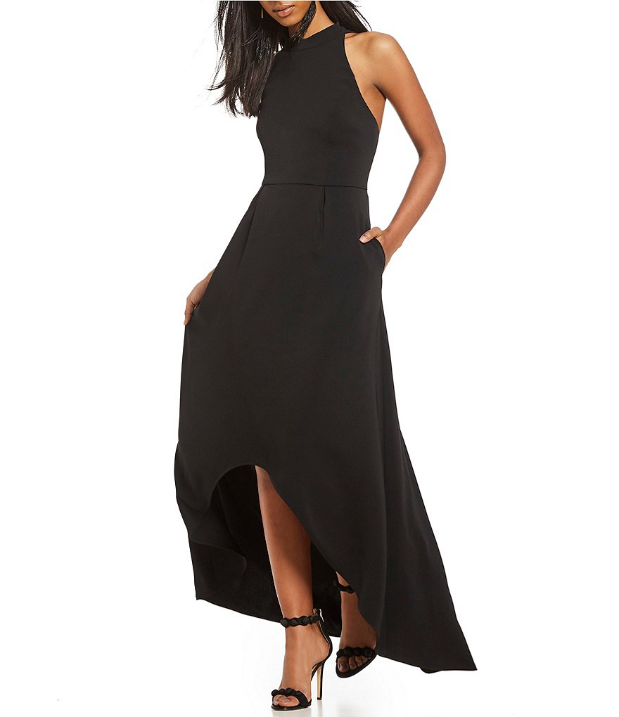 Laundry by Shelli Segal Strappy Back High Low Gown