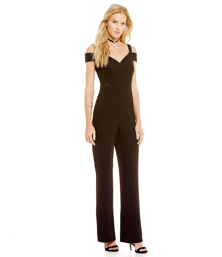 Laundry By Shelli Segal V-Neck Cold Shoulder Jumpsuit