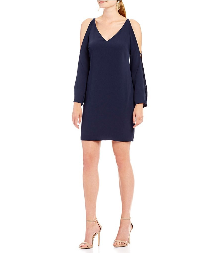 Laundry by Shelli Segal V-Neck Split Sleeve Dress