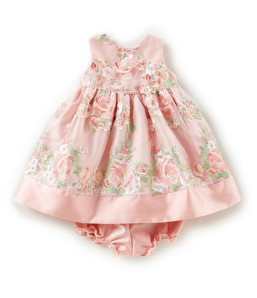 Laura Ashley London Baby Girls 12-24 Months Floral-Embroidered Dress