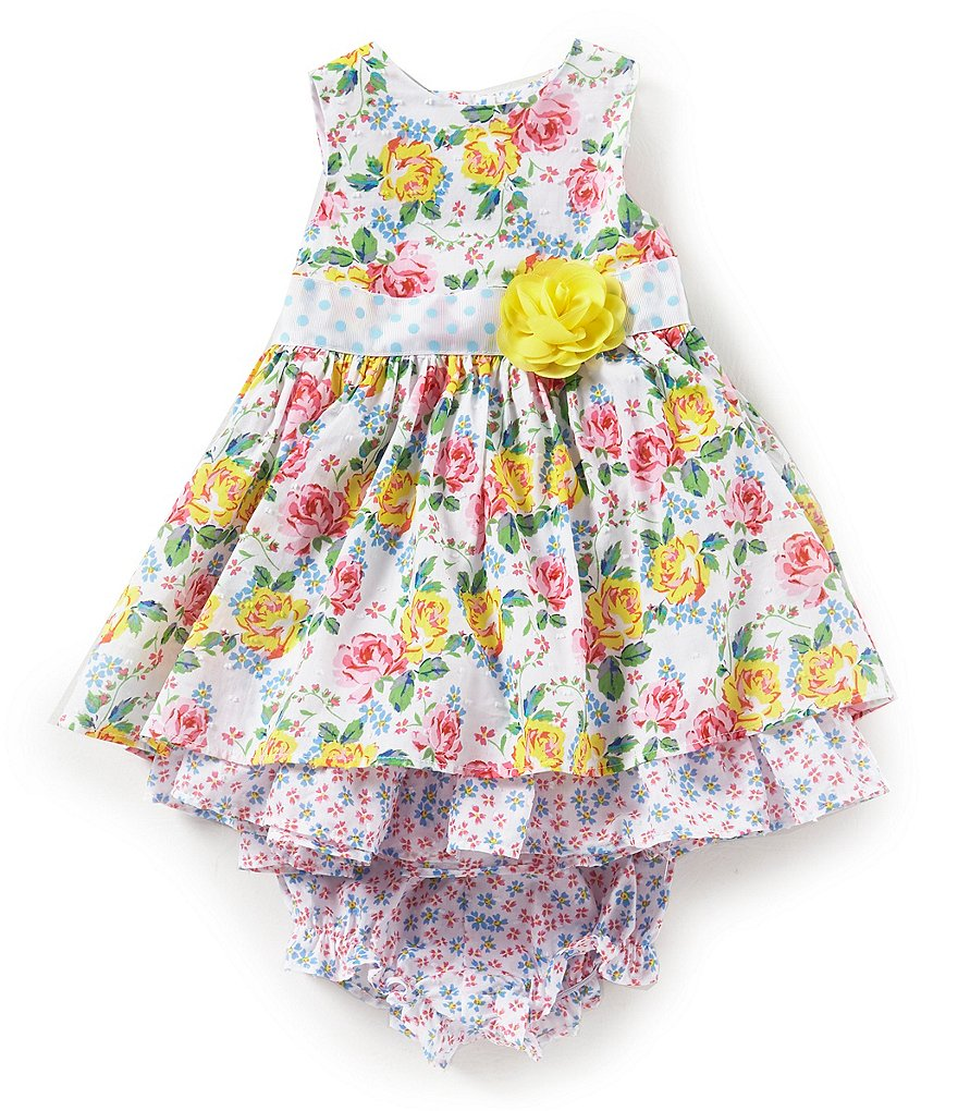 Laura Ashley London Baby Girls 12-24 Months Floral-Printed Fit-And-Flare Dress