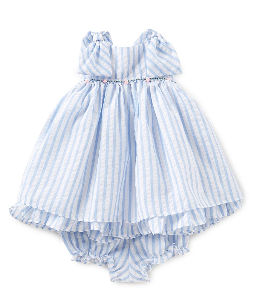 Laura Ashley London Baby Girls 12-24 Months Sleeveless Striped Dress