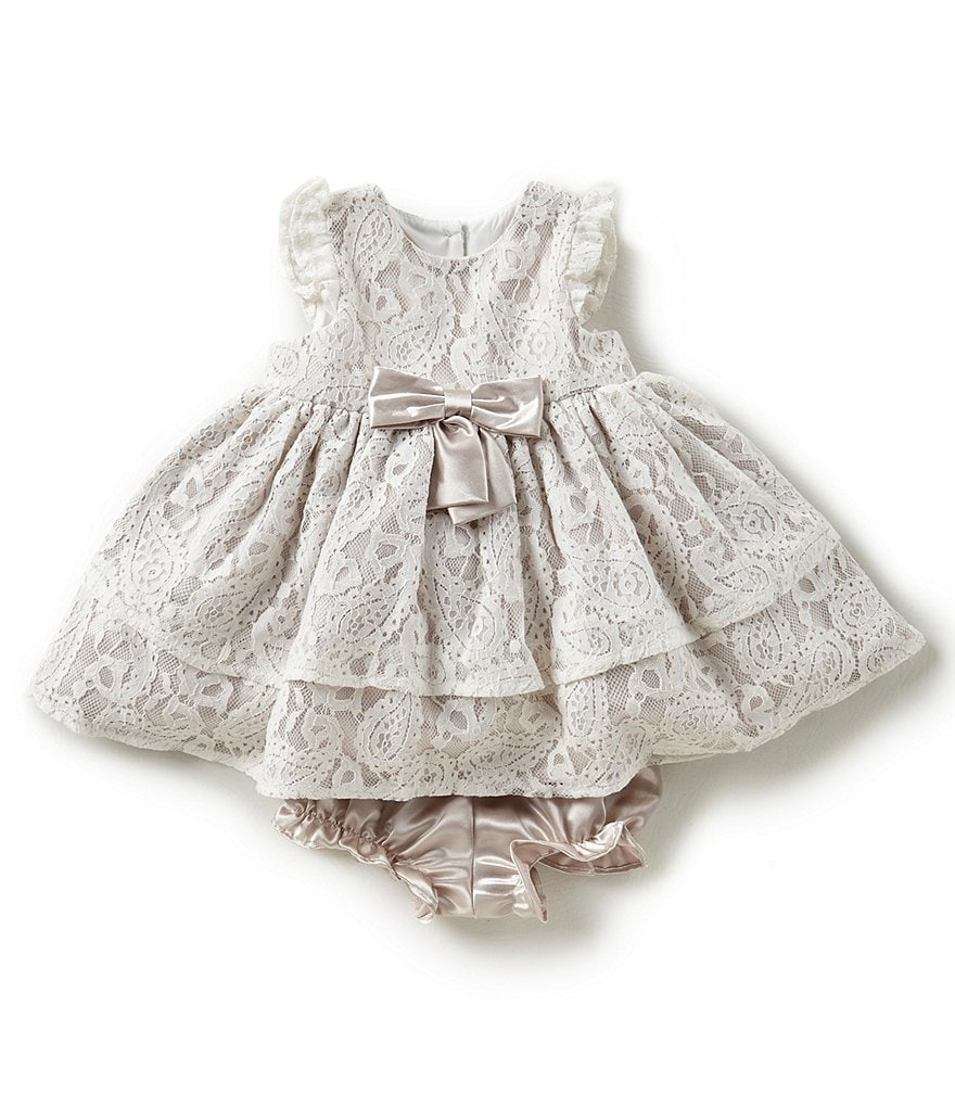 Laura Ashley London Baby Girls Newborn-24 Months Lace Fit-And-Flare Dress