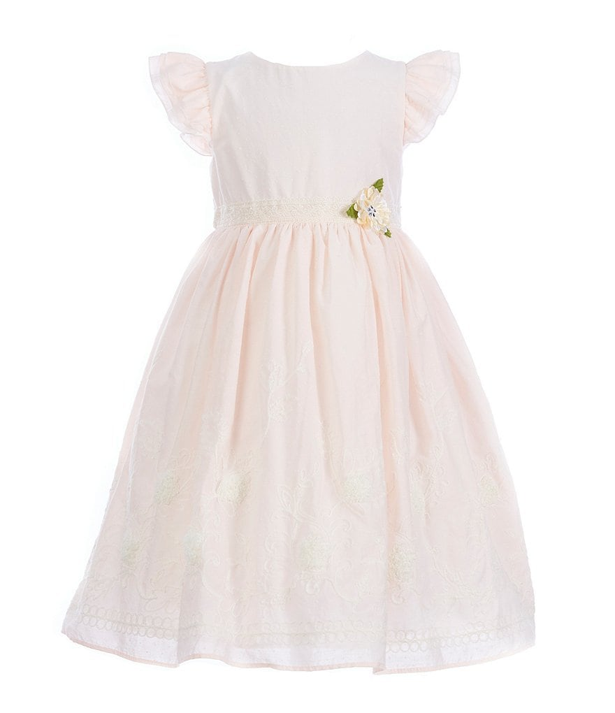Laura Ashley London Little Girls 2T-6X Embroidered Fit-And-Flare Dress