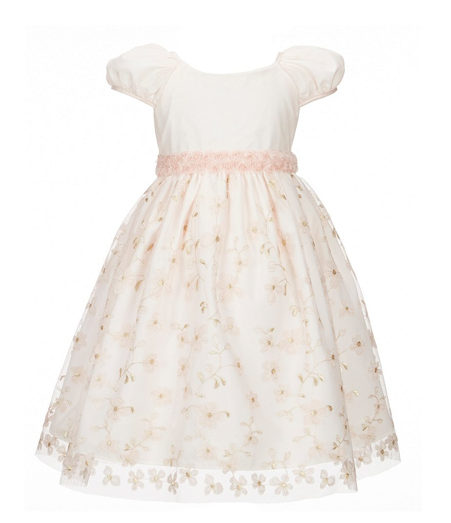 Laura Ashley London Little Girls 2T-6X Floral-Embroidered Dress