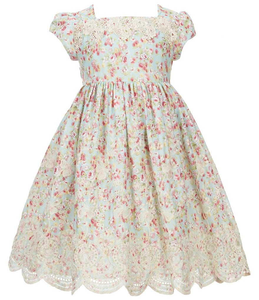 Laura Ashley London Little Girls 2T-6X Floral-Print Dress