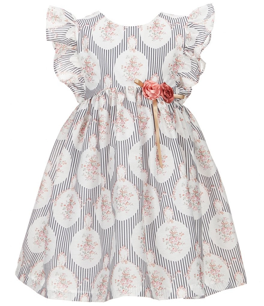 Laura Ashley London Little Girls 2T-6X Flutter-Sleeve Printed Dress
