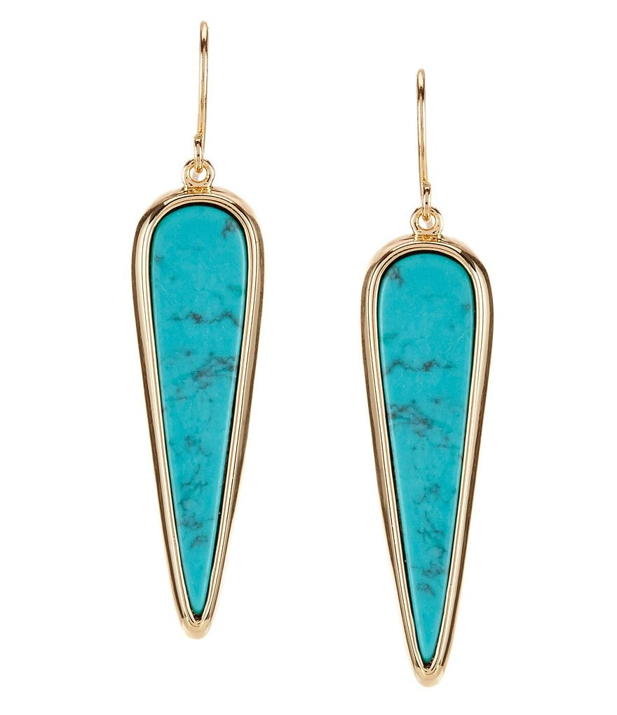 Lauren Ralph Lauren Howlite Arrow Drop Earrings
