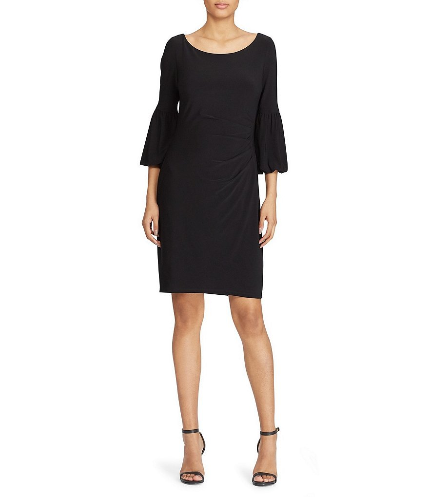 Lauren Ralph Lauren Bell-Sleeve Jersey Dress