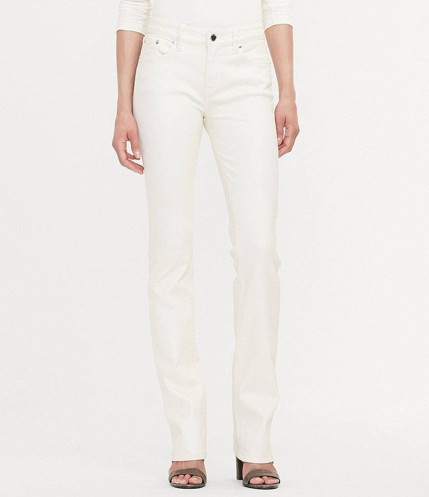 Lauren Ralph Lauren Coated Straight Leg Jean