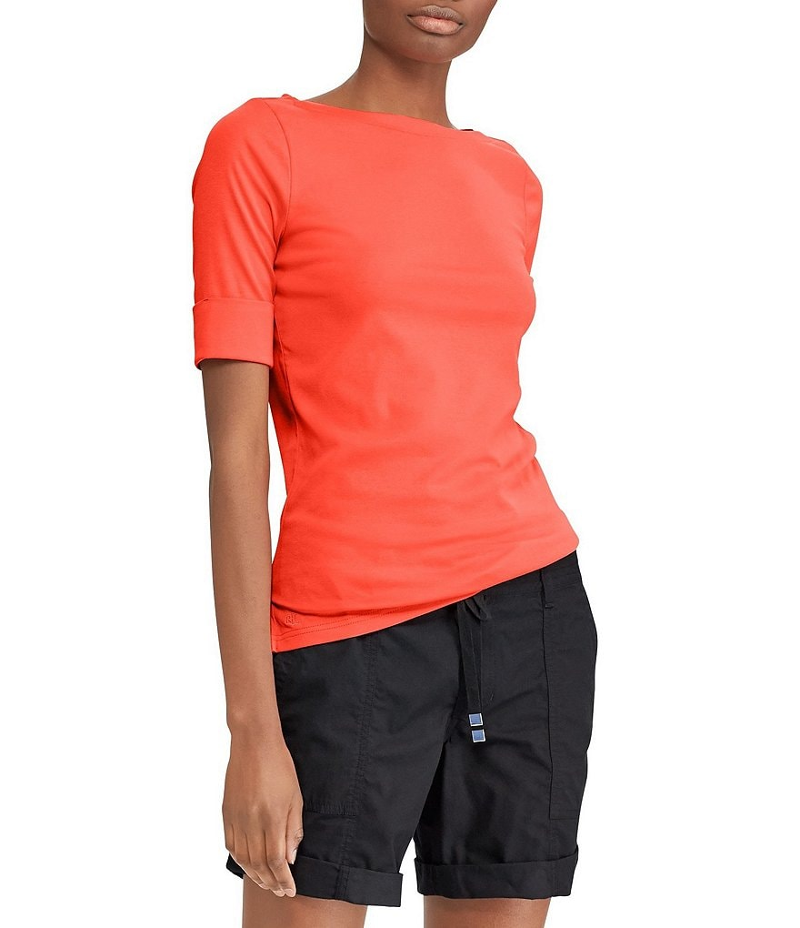 Lauren Ralph Lauren Cotton Boatneck T-Shirt