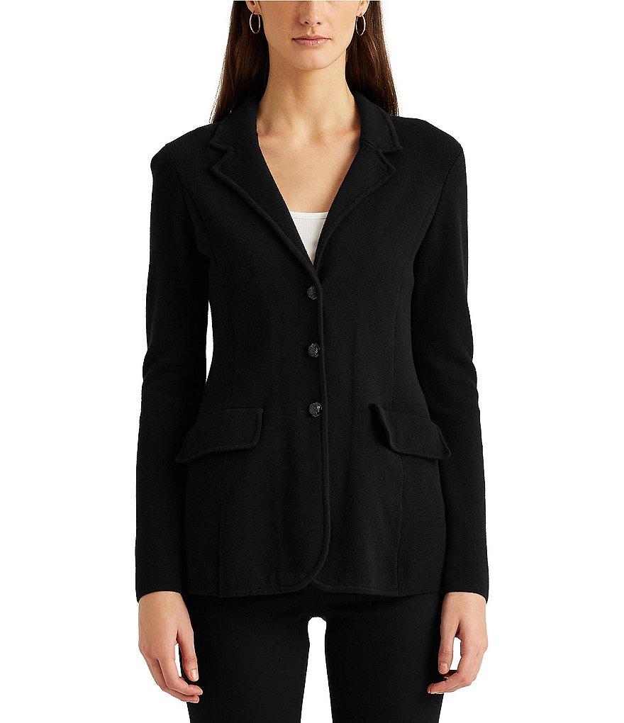 Dillard's Cotton Blazer Ralph Sweater Lauren WBqO86In