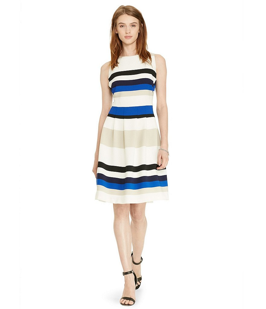 Lauren Ralph Lauren Fit-and-Flare Stripe Dress