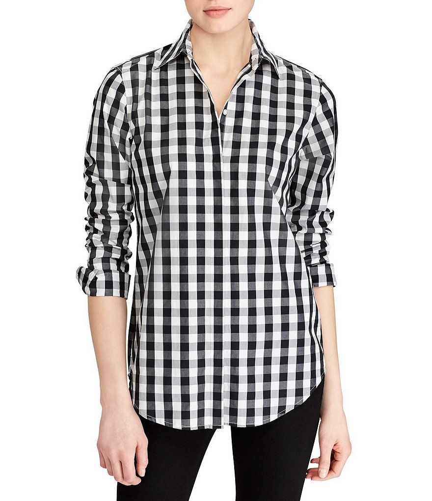 Lauren Ralph Lauren Gingham Print Cotton Shirt