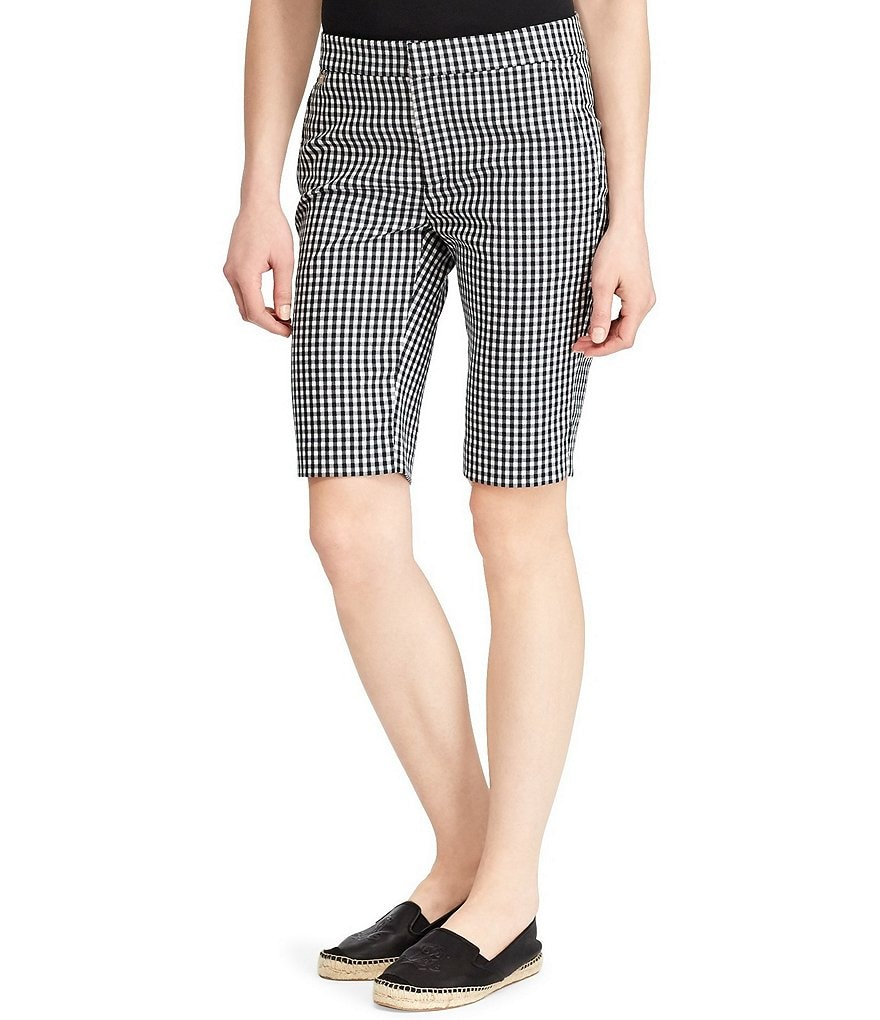 Lauren Ralph Lauren Gingham Stretch Bermuda Short