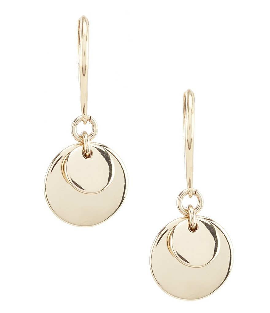 Lauren Ralph Lauren Gold Triple Disc Drop Earrings