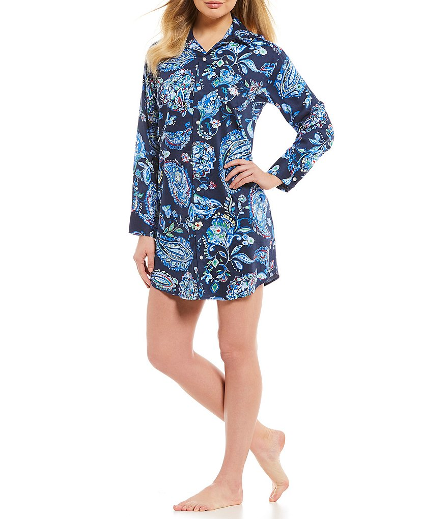 Lauren Ralph Lauren His Shirt Paisley Sateen Sleepshirt