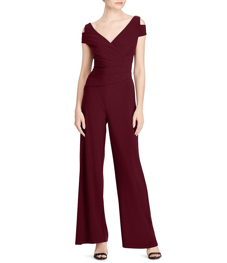 Lauren Ralph Lauren Jersey Cutout-Shoulder Jumpsuit