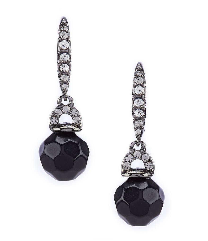 Lauren Ralph Jet Drop Earrings