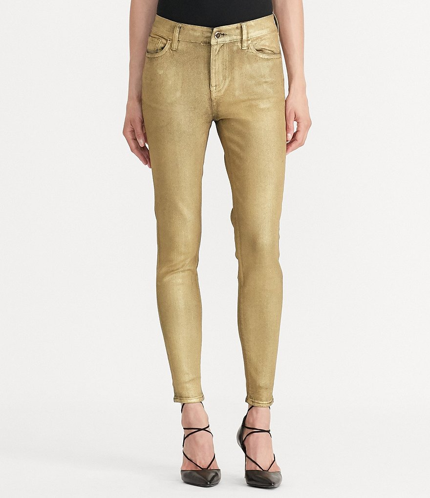 Lauren Ralph Lauren Metallic Stretch Skinny Jean