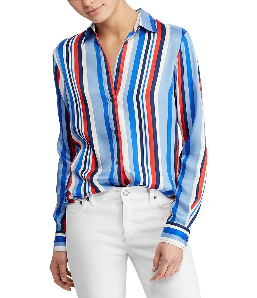 Lauren Ralph Lauren Multicolored Stripe Long Sleeve Shirt