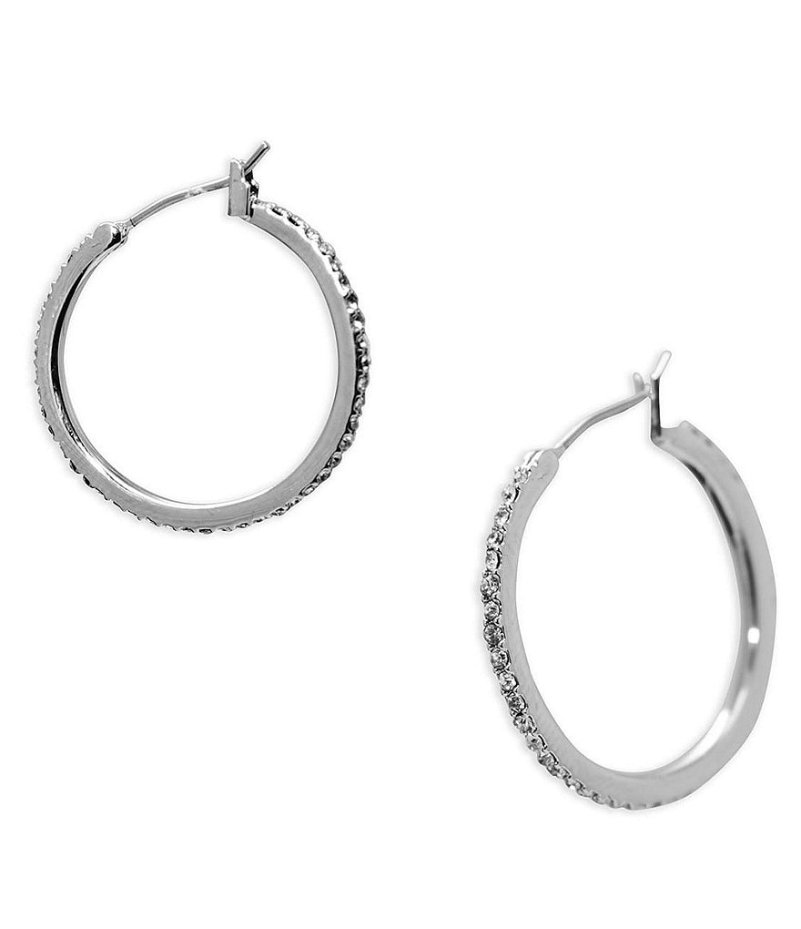 Lauren Ralph Lauren Pavé Hoop Earrings
